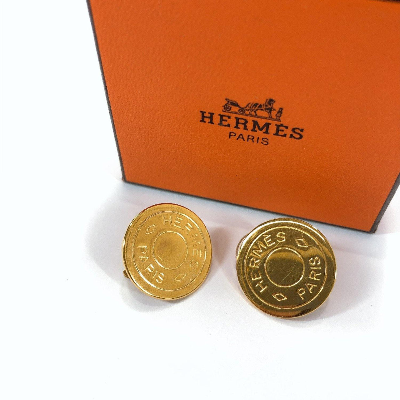 HERMES Earring Serie BIJOUTERIE gold Women Used