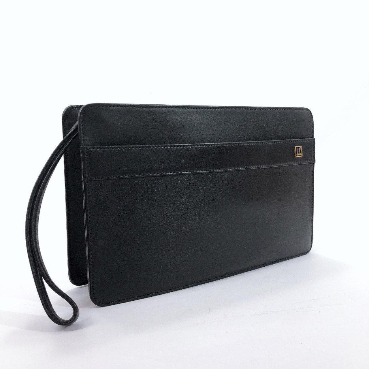 Dunhill Clutch bag leather black mens Used - JP-BRANDS.com