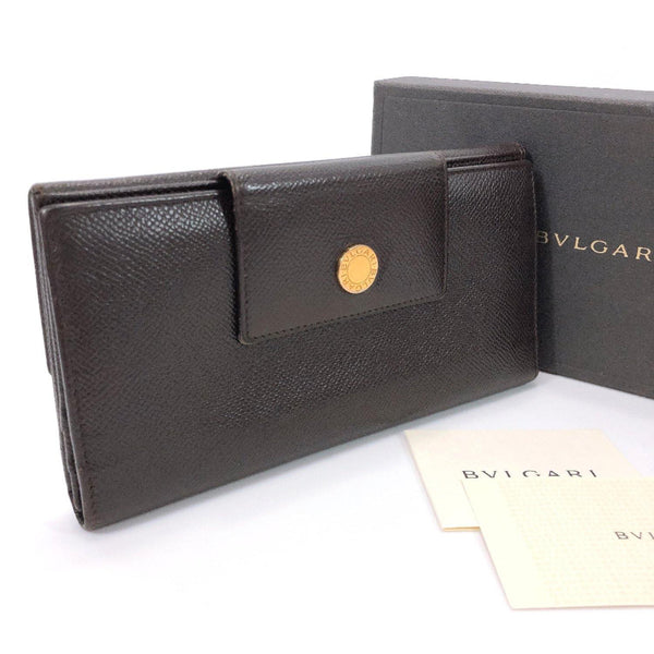 BVLGARI purse AB EIEA Bulgari Bulgari leather Brown mens Used