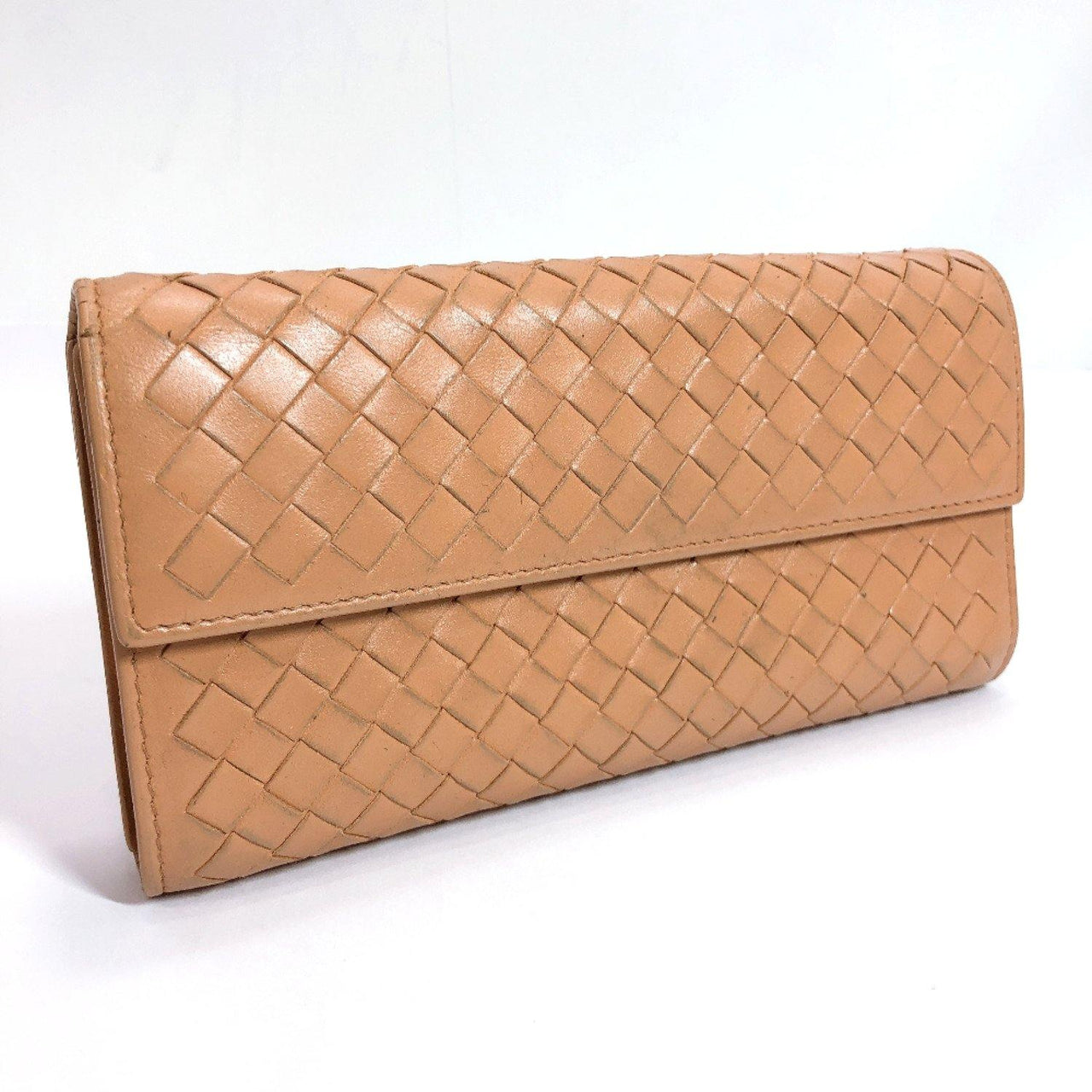 BOTTEGAVENETA purse Intrecciato leather beige Women Used