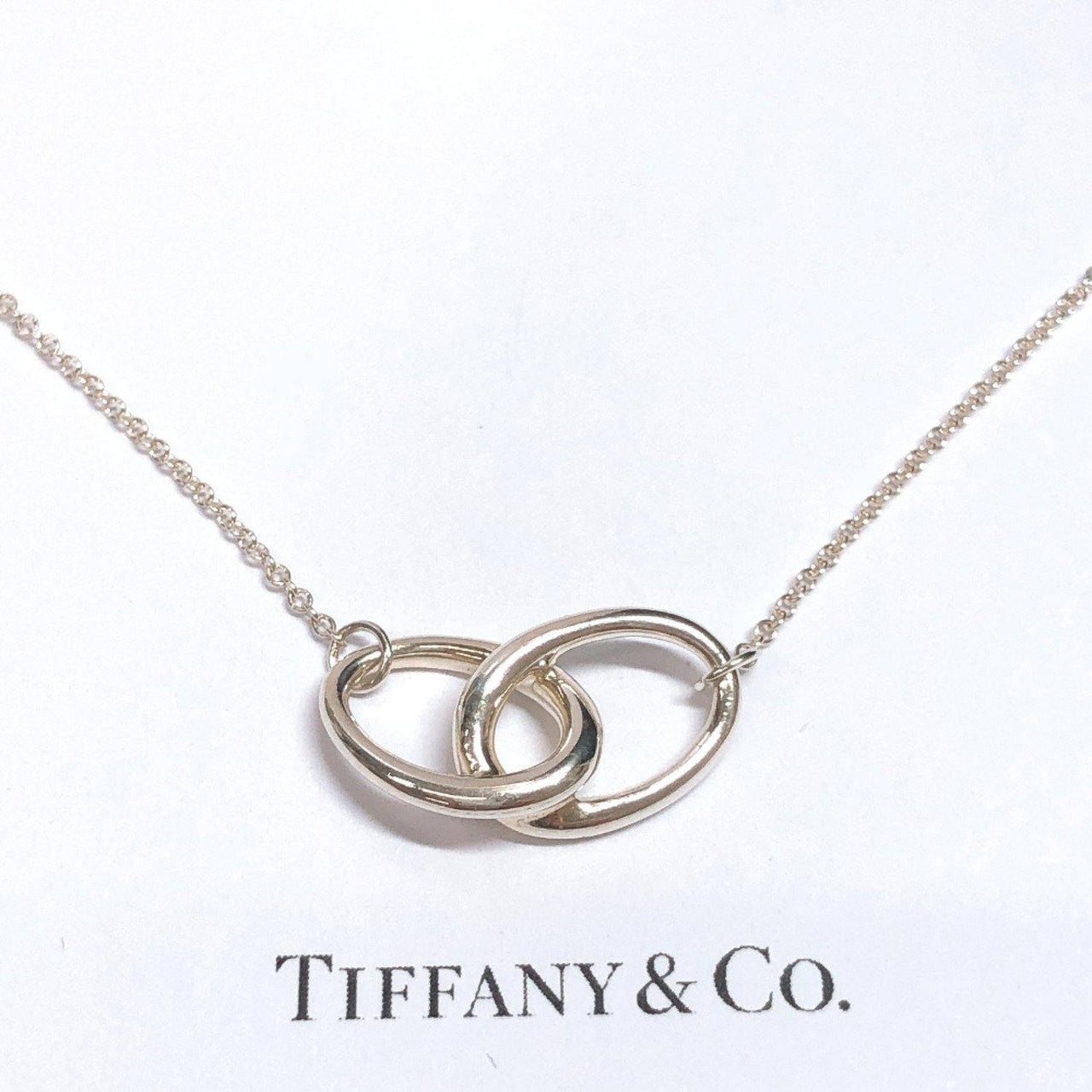 TIFFANY&Co. Necklace Double loop Elsa Peretti Silver925 Silver Women Used - JP-BRANDS.com
