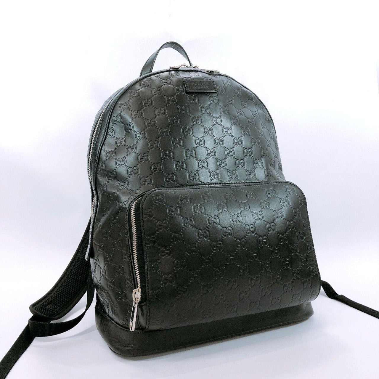 GUCCI Backpack Daypack 406370 Sima leather black mens Used - JP-BRANDS.com
