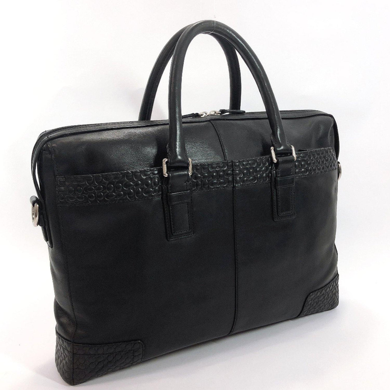COACH Business bag 70454 leather black mens Used