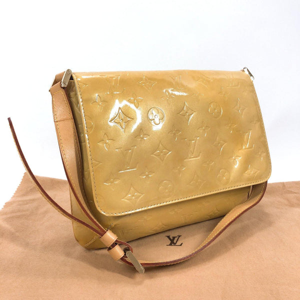 LOUIS VUITTON Shoulder Bag M91008 Thompson Street Monogram Vernis/Leather yellow Women Used
