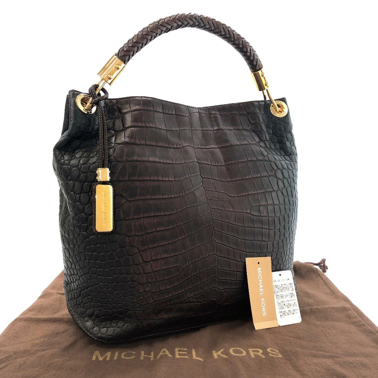 Michael Kors Tote Bag 31F1GSKL4E Scorpios leather Brown Women Used
