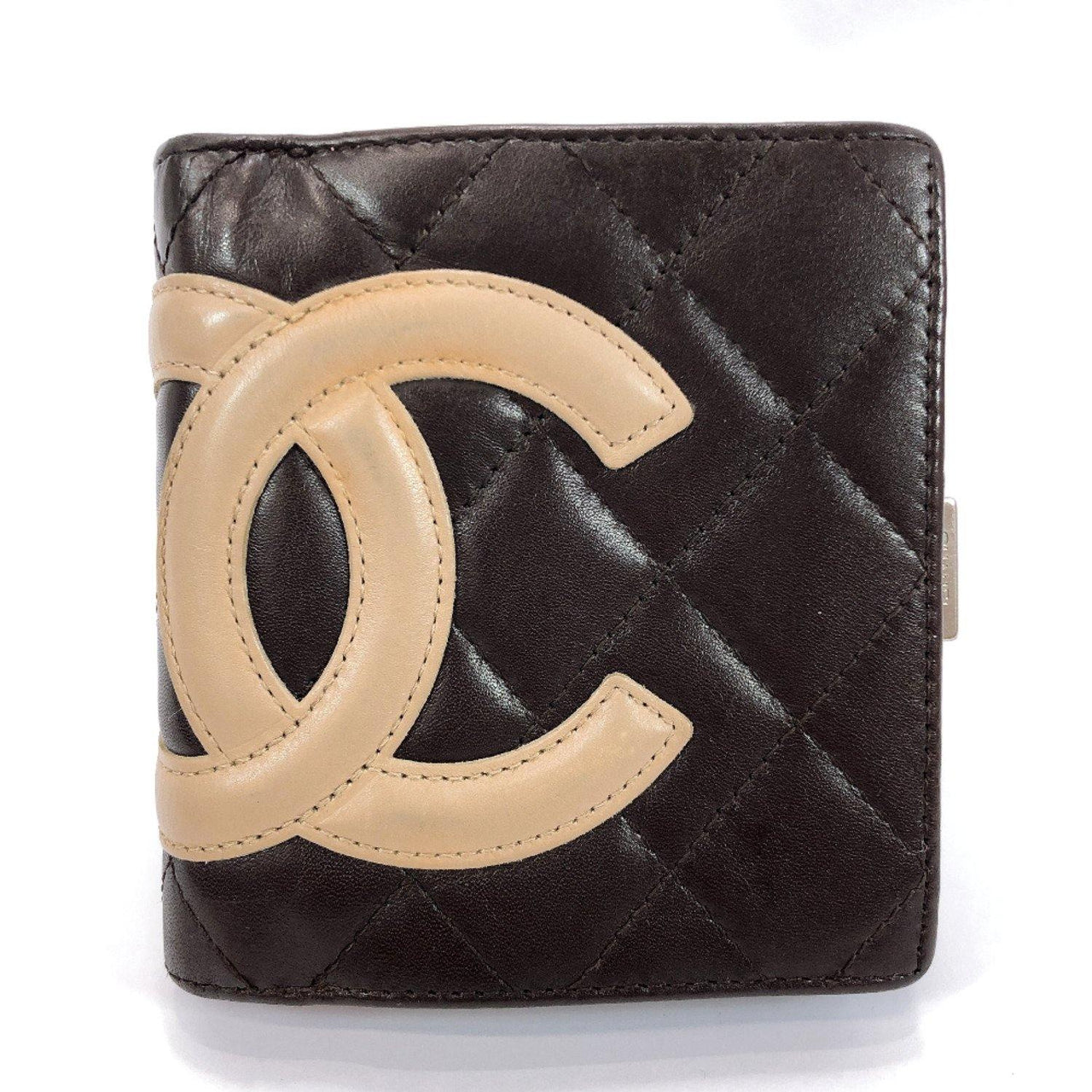 CHANEL wallet Cambon line purse with a clasp lambskin Brown Women Used - JP-BRANDS.com