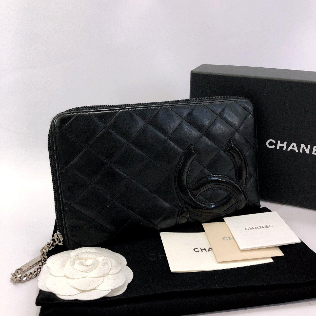 CHANEL purse A26710 Cambon line Matelasse leather black pink Women Used - JP-BRANDS.com