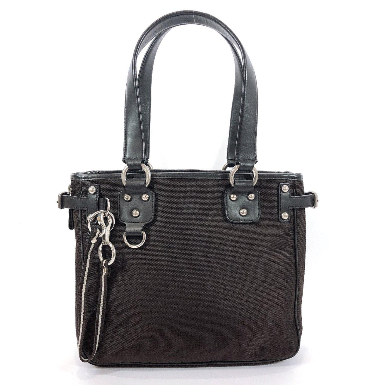 BALLY Tote Bag Nylon/leather Brown Women Used - JP-BRANDS.com