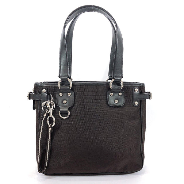 BALLY Tote Bag Nylon/leather Brown Women Used