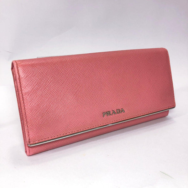PRADA purse Safiano leather/SilverHardware pink Women Used