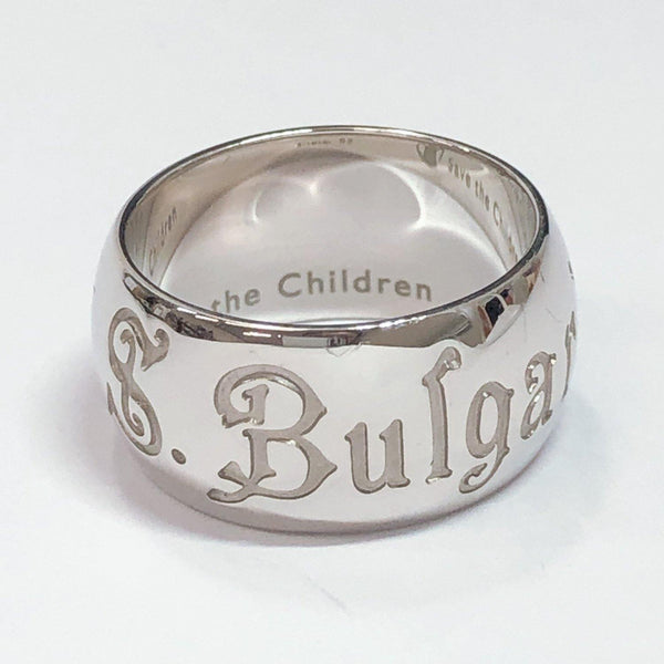 BVLGARI Ring 1697AR Save the Children Silver925 14 Silver unisex Used - JP-BRANDS.com
