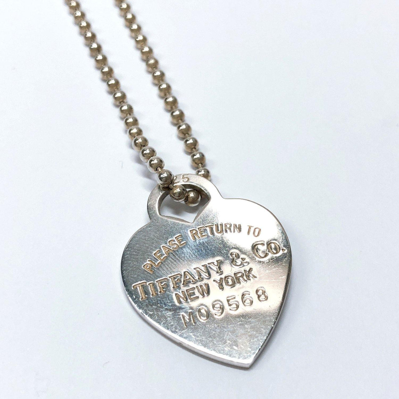 TIFFANY&Co. Necklace Return to TIFFANY & Co. heart Silver925 Silver Women Used