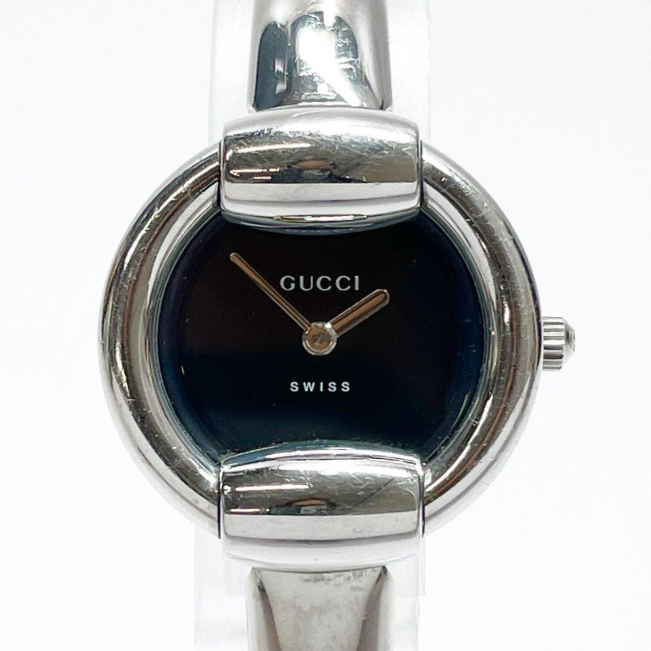 GUCCI Watches 1400L quartz Stainless Steel Silver Blackface Women Used - JP-BRANDS.com