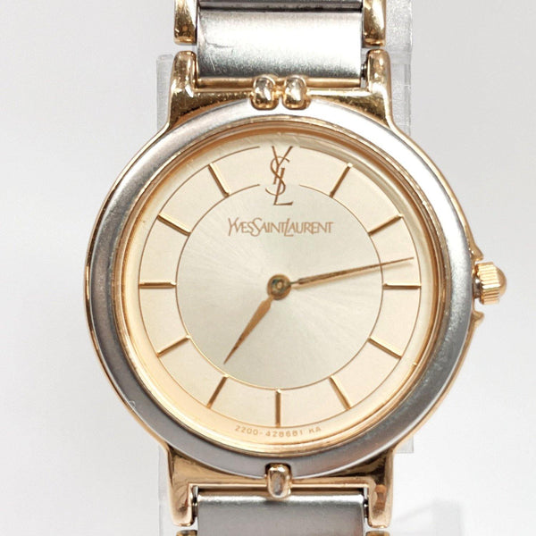 YVES SAINT LAURENT Watches 2200-228481 YO quartz vintage Stainless Steel Silver Women Used