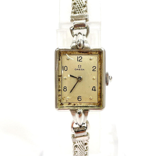 OMEGA Watches Hand Winding vintage Stainless Steel Silver Women Used