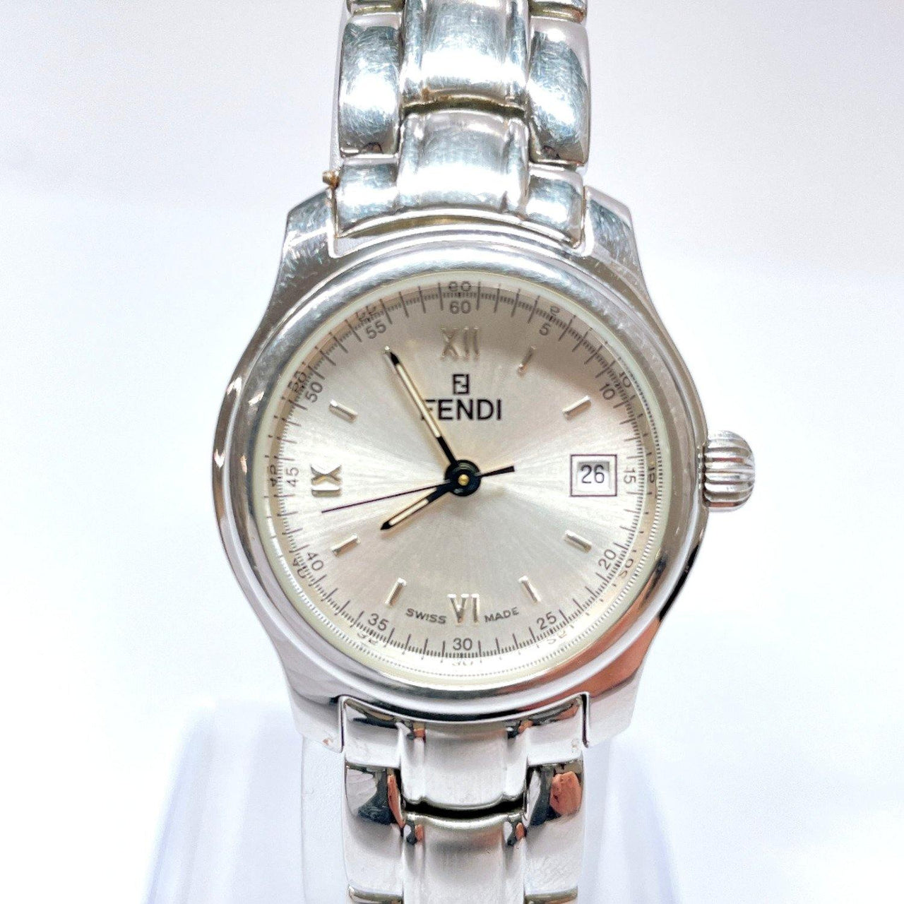 FENDI Watches 210L quartz Stainless Steel Silver Women Used - JP-BRANDS.com