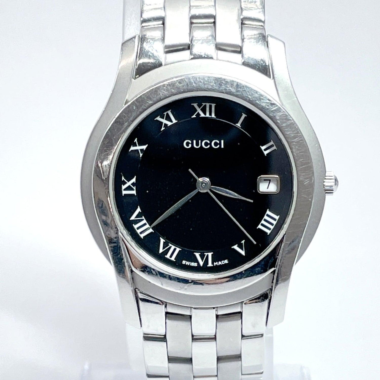 GUCCI Watches 5500M quartz Stainless Steel Silver unisex Used