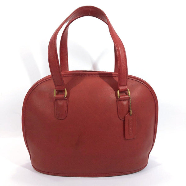 COACH Handbag Old coach leather Red Women Used