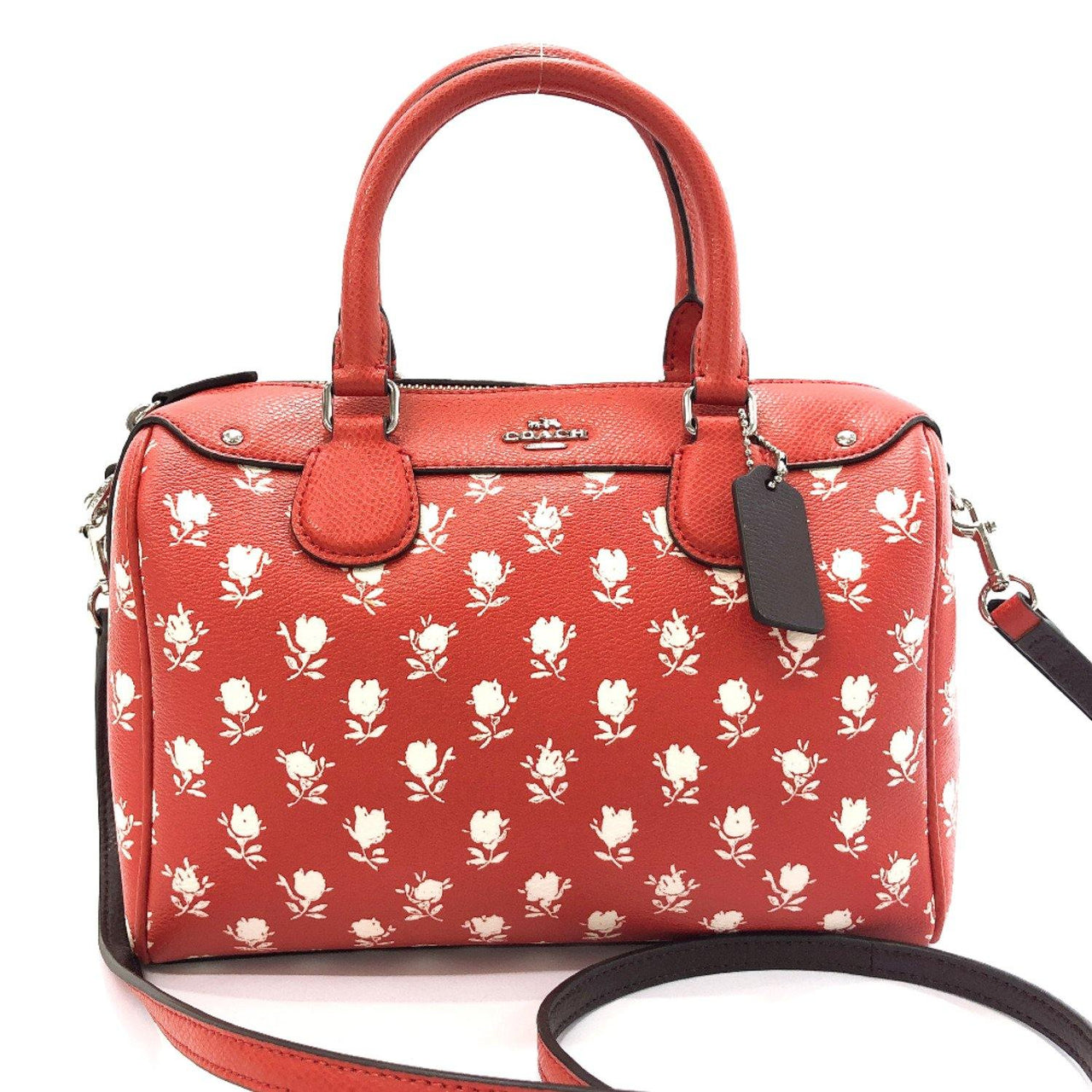 COACH Handbag F38160 Mini Boston PVC Red Women Used - JP-BRANDS.com