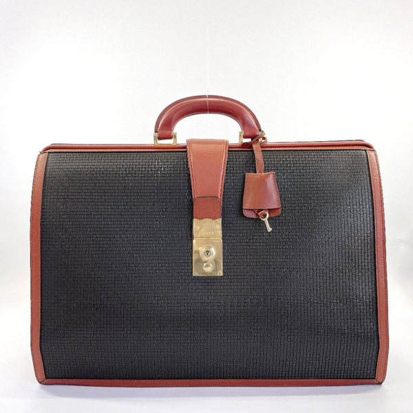 BALLY Business bag vintage PVC/leather Brown black mens Used