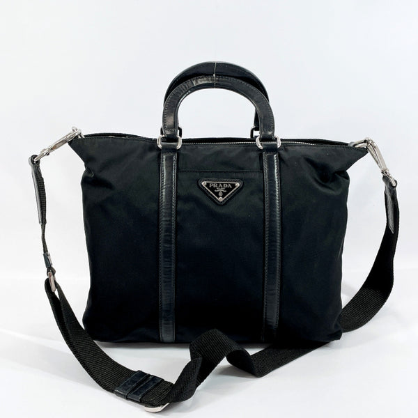 PRADA Handbag Nylon black Women Used