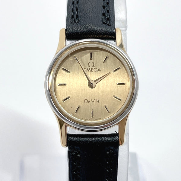 OMEGA Watches De Ville Quartz vintage Stainless Steel gold Silver Women Used