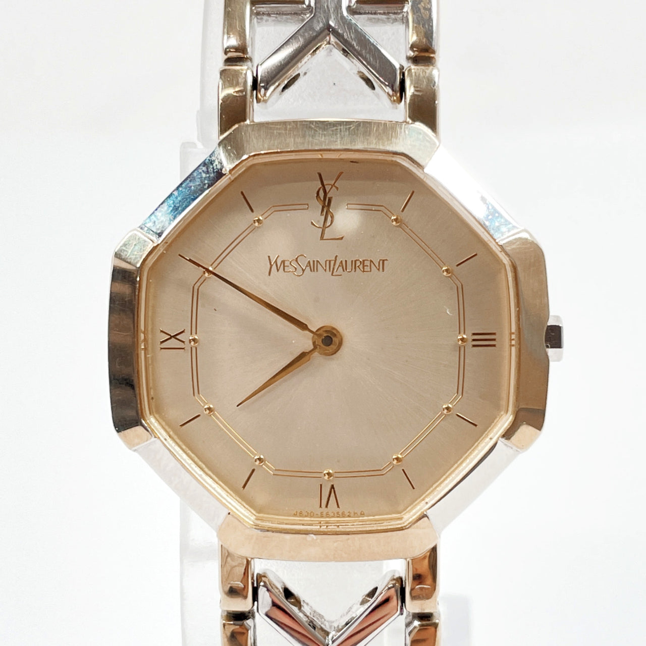 YVES SAINT LAURENT Watches 4620-E62143 quartz Stainless Steel gold Silver Women Used