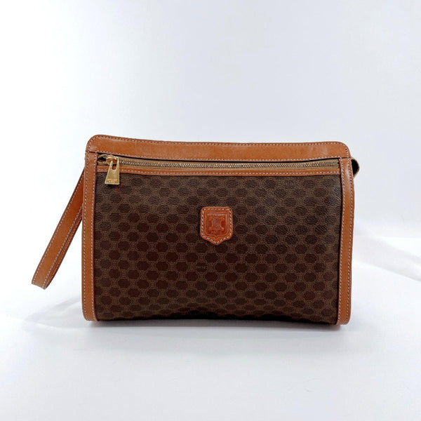 CELINE business bag MC96 Macadam vintage PVC Brown mens Used