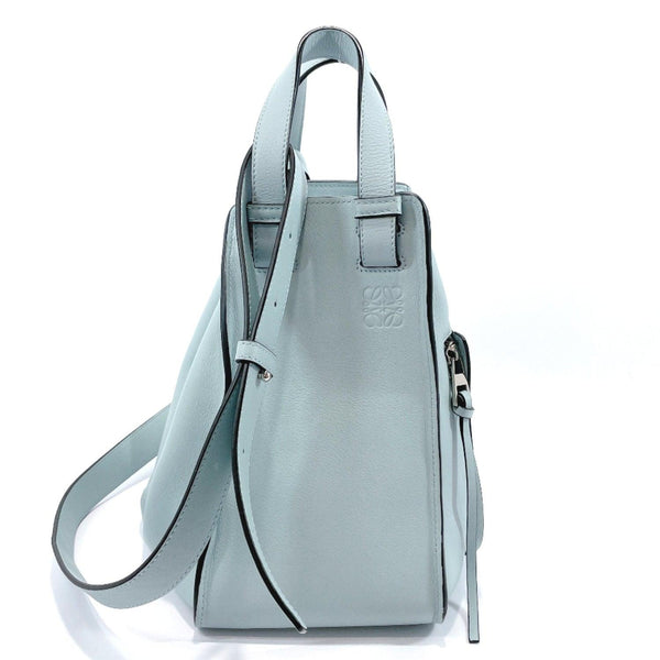 LOEWE Handbag Hammock Small 2way leather Light blue Women Used