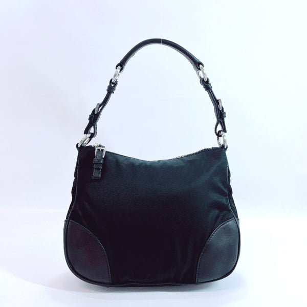 PRADA Shoulder Bag Nylon black Women Used