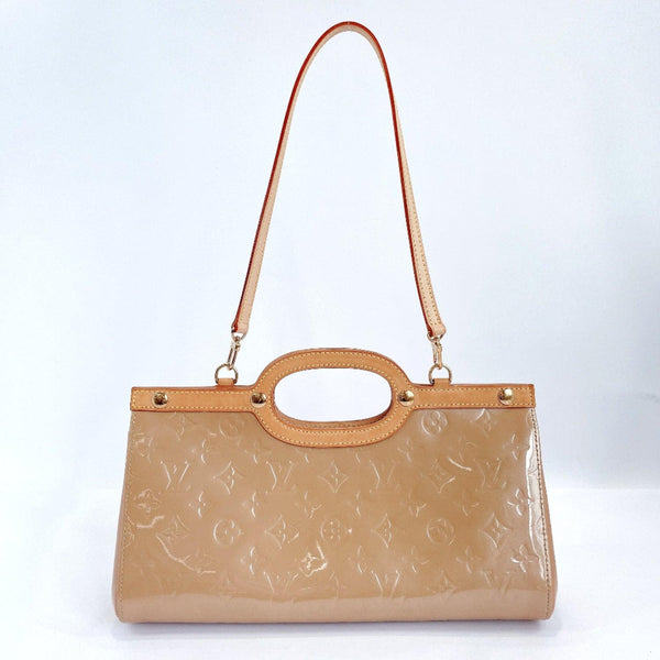 LOUIS VUITTON Handbag M91372 Roxbury Drive 2way Monogram Vernis beige Noisette Women Used