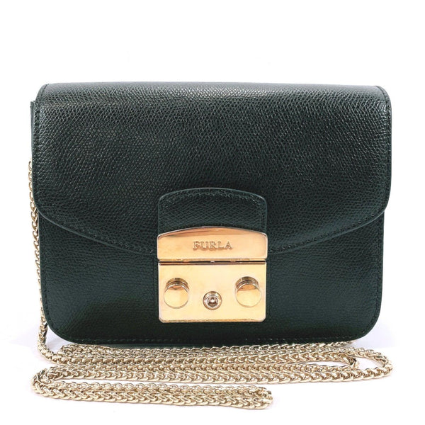 Furla Shoulder Bag metropolis leather black Women Used