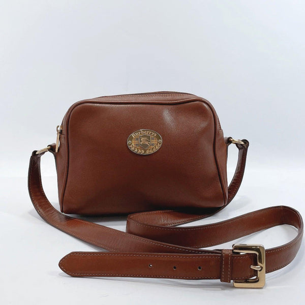Burberrys Shoulder Bag leather Brown Women Used