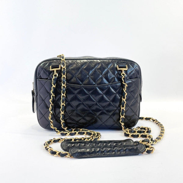 CHANEL Shoulder Bag ChainShoulder Matelasse lambskin black Women Used