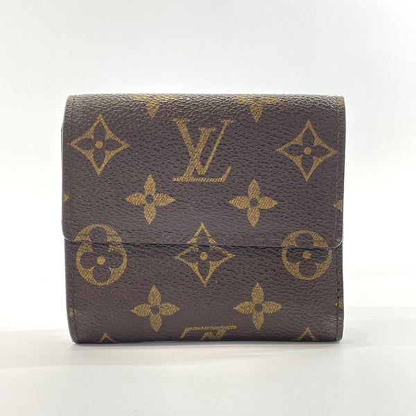 LOUIS VUITTON Tri-fold wallet M61652 Portonet Bie Cult Credit Monogram canvas Brown Women Used