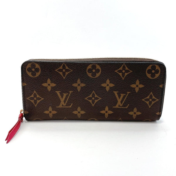 LOUIS VUITTON purse M42119 Portefeiulle Clement Hot pink Monogram canvas Brown Women Used