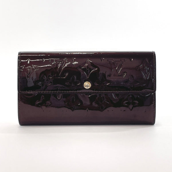 LOUIS VUITTON purse M93524 Portefeiulle Sarah Monogram Vernis Purple (amarant) Women Used