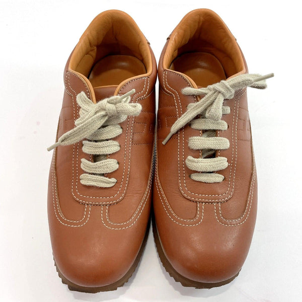 HERMES sneakers quick leather Brown Women Used