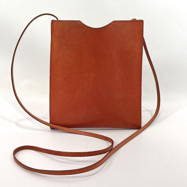 HERMES Shoulder Bag Omenitu leather Brown Women Used