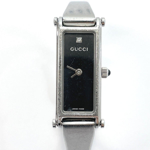 GUCCI Watches 1500L quartz One point diamond Stainless Steel Silver Women Used