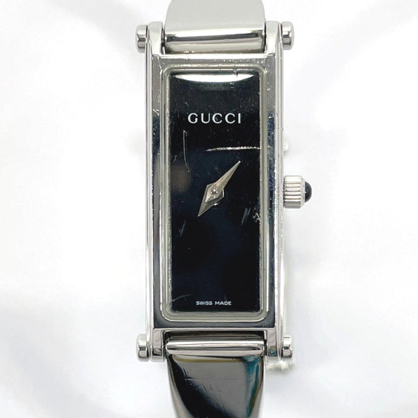 GUCCI Watches 1500L quartz Stainless Steel Silver black Women Used
