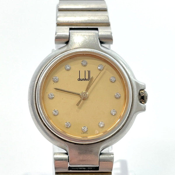 Dunhill Watches Millennium 12 point diamond quartz Stainless Steel gold Silver Women Used