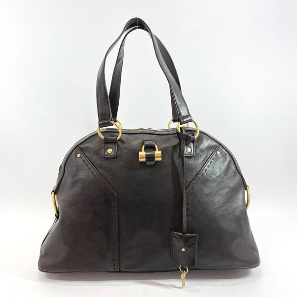 Yves Saint Laurent rive gauche Handbag 156464.002122 Muse leather Dark brown Gold Hardware Women Used