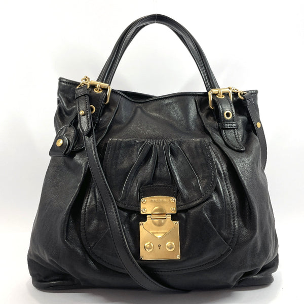 MIUMIU Tote Bag 2way leather black Women Used