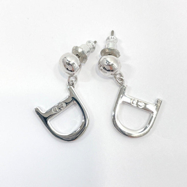 Christian Dior earring metal Silver Women Used