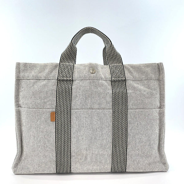 HERMES Tote Bag fool toe MM Tower ash gray SilverHardware unisex Used