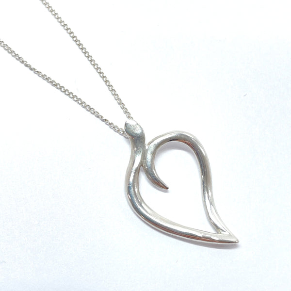 TIFFANY&Co. Necklace 1987 leaf Silver925 Silver Women Used
