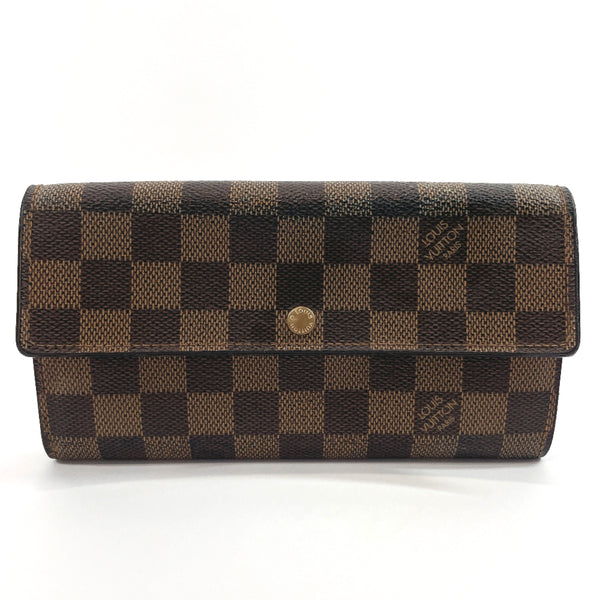 LOUIS VUITTON purse N61724 Pochette Porto Monnet Credit Damier canvas Brown Women Used