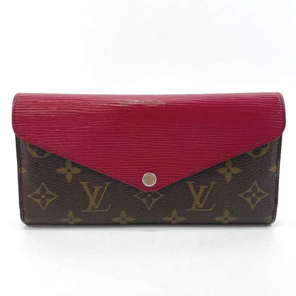 LOUIS VUITTON purse M60498 Portefeiulle Marie Luron Epi Leather/Monogram canvas Brown purple Women Used