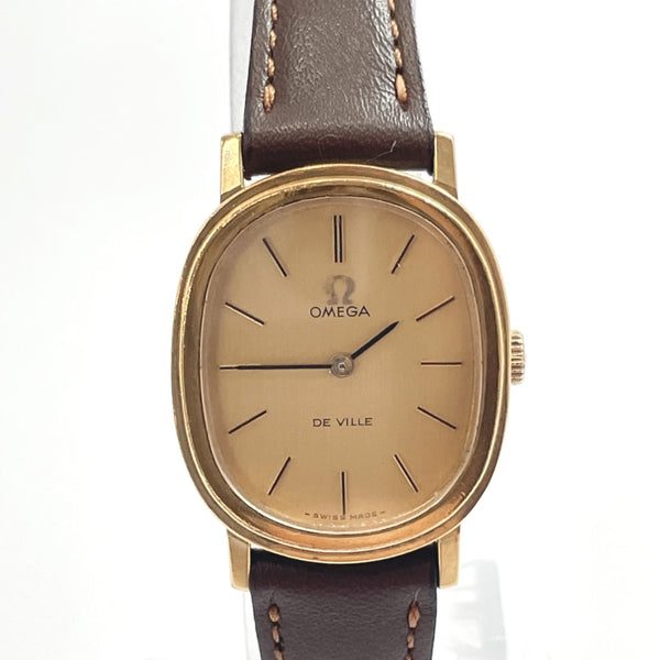 OMEGA Watches 625 De Ville Hand Winding vintage Stainless Steel/leather gold Women Used